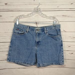 Tommy Hilfiger Womens 10 High Waist Denim Shorts